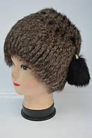 Женская меховая шапка - кубанка из кролика Модель 38