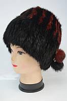 Женская  шапка - кубанка из меха кролика Модель 40