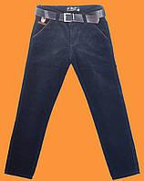 Вельветовые темно - синие брюки для мальчика Musti (Турция) (152-176)
