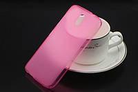 TPU чехол для HTC Desire 326G Dual розовый