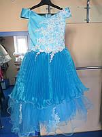 Нарядное бальное/пышное платье для девочек 110-116р