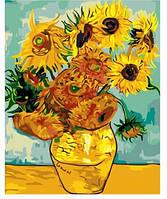 """Картина по номерам Идейка """"Подсолнухи Ван Гога"""" 40х50 см. КН098"""