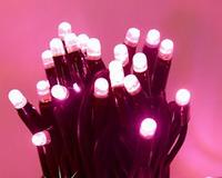 Украшение дома на Новый год: розовая светодиодная нить-гирлянда, 10м, 100led
