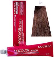 6N стойкая крем-краска для волос - темный блондин натуральный (Socolor.beauty), 90 мл