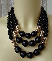 Ожерелье женское колье массивное крупное модное бусы пластик ювелирная бижутерия 4159