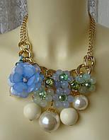Ожерелье женское колье модное металл ювелирная бижутерия 4175