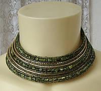 Ожерелье женское колье и браслет комплект ручная работа бижутерия 4179