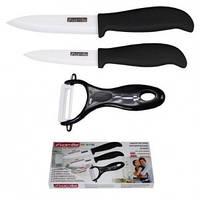 """Набор ножей керамических с ручками из ABS-TPR """"soft-touch"""" 3 предмета Kamille 5164"""