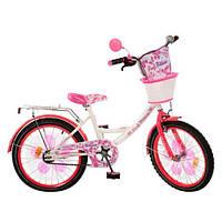 Велосипед Профи Цветок 20 дюймов Profi Flower велосипед для девочки двухколесный