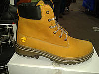 Мужские зимние ботинки, коричневые, Timberland, кожа
