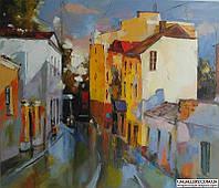 Картина «Город» (копия картины Гапасова Р.) купить картину маслом