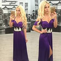 Вечернее платье в пол с разрезом в расцветках h-3103747