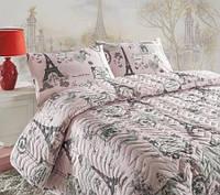 Покрывало с наволочками Eponj Home Pariscomfort лиловое 200*220