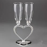 """Оригинальные свадебные бокалы """"Половинки сердца"""""""