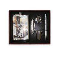 Набор T-014 (фляга 8 унц+стакан+воронка+ручка+нож перочинный)