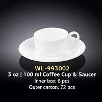 Чашка кофейная с блюдцем (Wilmax, Вилмакс, Вілмакс) WL-993002