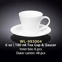 Чашка чайная с блюдцем (Wilmax, Вилмакс, Вілмакс) WL-993004