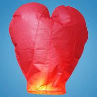 Небесный фонарик, красное сердце