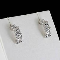 Восхитительные серьги с кристаллами Swarovski, покрытые белым золотом 0501