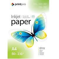 Бумага PrintPro глянцевая 230г/м, A4 PG230-50