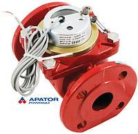 Водосчетчик Apator PoWoGaz MWN-130-40-NK (ГВ) с импульсным выходом турбинный Ду-40 сухоход промышленный