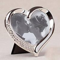 Свадебная фоторамка  в форме сердца