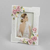 Свадебная фоторамка  с объемными цветами