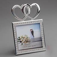 Свадебная фоторамка 2 сердца