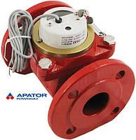 Водосчетчик Apator PoWoGaz MWN-130-50-NK (ГВ) с импульсным выходом турбинный Ду-50 сухоход промышленный