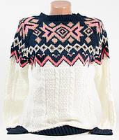 Свитер женский пуловер 5010 белый 46-48 (M-L)