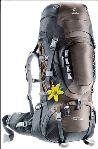Женский функциональный рюкзак DEUTER Aircontact PRO 55+15 SL, 33813 6701 коричневый