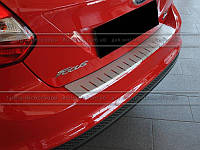 Накладка на бампер с загибом для Ford Focus III 5D 2011+ (DOUBLE)