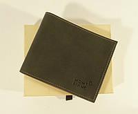 Купюрник мужской кожаный серый Mont Blanc 0315-с