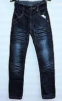 Утепленные джинсы для мальчика 9-13 лет узкие