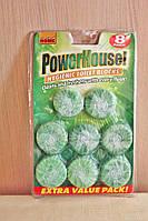 Таблетки в бачок унитаза Power House 8 шт.(зеленые)