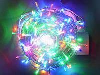 Новогодняя светодиодная гирлянда 300 диодов мульти белый провод