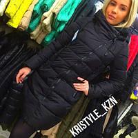 Женская теплая зимняя удлиненная куртка (В НАЛИЧИИ БЕЖ И КРАСНЫЙ ЦВЕТ)