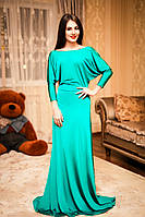 Шикарное вечернее  платье в пол с открытой спиной