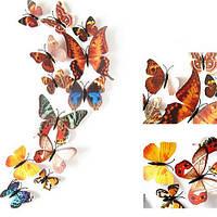 Бабочки на стене, интерьерные наклейки на стены уютные