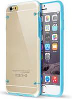 Ультратонкий силиконовый чехол для iphone 6 Plus - Прозрачный с голубым