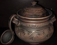 Супница глиняная с черпаком (декор) 3 л