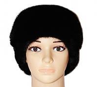"""Женская норковая шапка """"Ника"""" (черный)"""