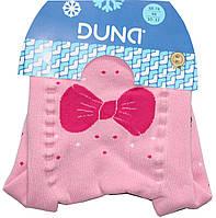 Колготы махровые розовые детские, под памперс, для самых маленьких, рисунок - пуделя, рост 68-74, Дюна