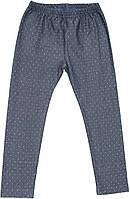Лосины теплые для девочки, джинсовые, рост 146 см, ТМ Ля-ля