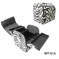 Профессиональная сумка для мастера маникюра, косметолога, парикмахера Зебра Lady Victory LDV BPT-01A /08-64 N