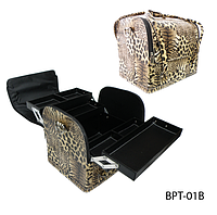 """Профессиональный кейс для визажистов, парикмахеров и мастеров маникюра """"Леопард""""LadyVictory LDV BPT-01B /0-93"""