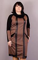 Ливана. Платья супер батал.Бежевый., фото 1