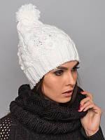 Стильный шарф-хомут из качественной пряжи. Женский хомут. Черный шарф. Шарф черны. Теплый шарф. Хомут вязаный.