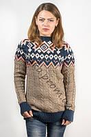Свитер женский пуловер 5010 кофейный 46-48 (M-L)