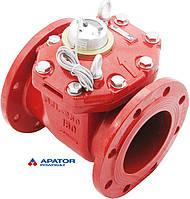 Водосчетчик Apator PoWoGaz MWN-130-150-NK (ГВ) с импульсным выходом турбинный Ду-150 сухоход промышленный